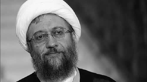 رئيس السلطة القضائية  في النظام الإيراني الملا المجرم صادق لاريجاني
