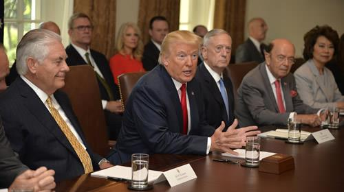 President Trump Holds Cabinet Meeting At The White House