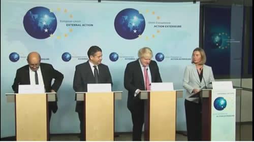 کنفرانس وزرای امور خارجه سه کشور اروپایی