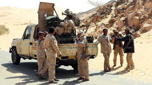 Yemeni soldiers Arrive in Al-Bayda