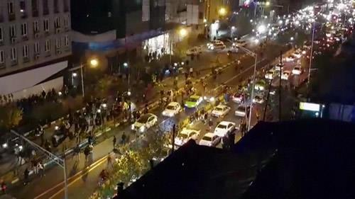 Despite the presence of a large number of security forces, demonstrations and clashes have been reported from various parts of Tehran.