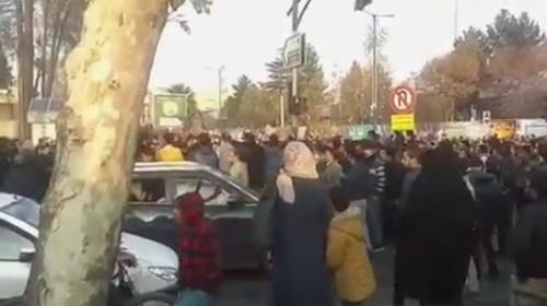 Isfahan has been the constant scene of demonstrations and protests for past week and half