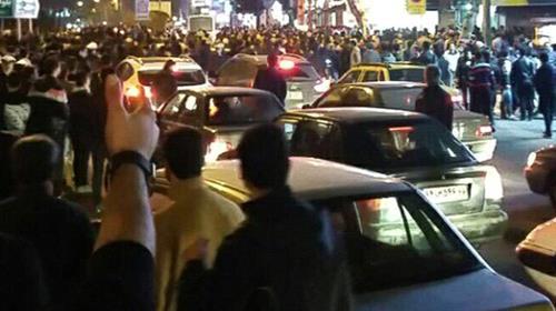Rasht, anti-government protests