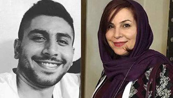 کیانوش عباس زاده به همراه مادرش نازیلا نوری