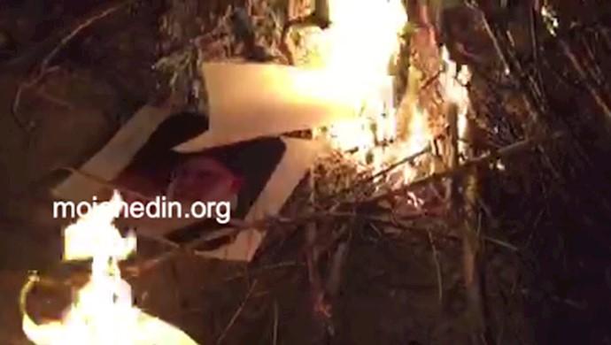 آتش زدن تصاویر خامنهای در روز چهارشنبه سوری