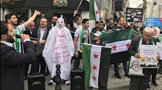 تجمع اعتراضی مخالفان سوری