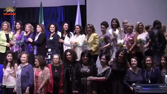 گردهمایی همبستگی با مبارزه زنان ایران در دانشگاه فولرتون کالیفرنیا