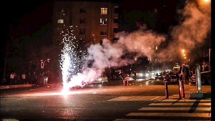 انفجار  بمب دستساز و ترقه در  قیام چهارشنبه سوری