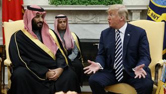 مذاکرات دونالد ترامپ و ولیعهد عربستان سعودی درباره خطر رژیم ایران در یمن