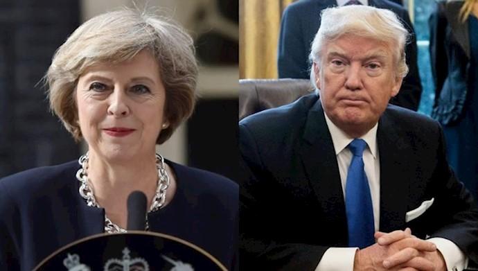 دونالد ترامپ - ترزا می
