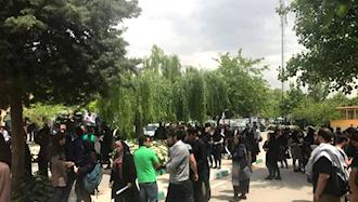 تهران.تجمع دانشجویان دانشگاه علامه در اعتراض به سرکوب