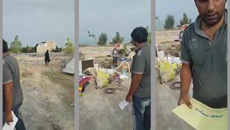خراب کردن خانه بر سر مردم در بوشهر