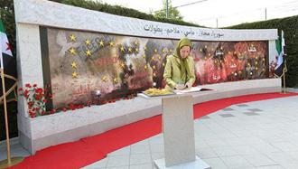 مریم رجوی محکومیت حمله جنایتکارانه شیمیایی دوما