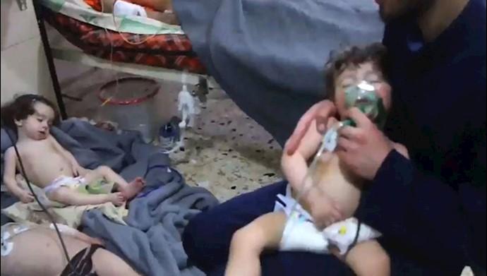 حمله شیمیایی اسد به دوما