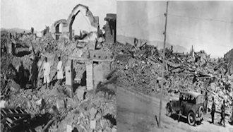 ویران شدن  شهر سلماس بر اثر  زلزله