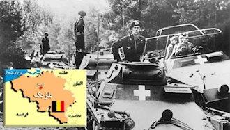 عبور نیروهای هیتلر از بلژیک
