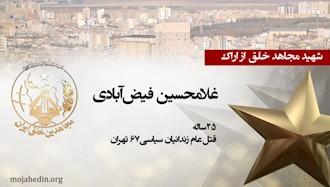 مجاهد شهید غلامحسین فیضآبادی