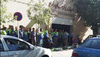 مشهد.تجمع اعتراضی کارگران راه آهن تراورس - سوم خرداد ۹۷