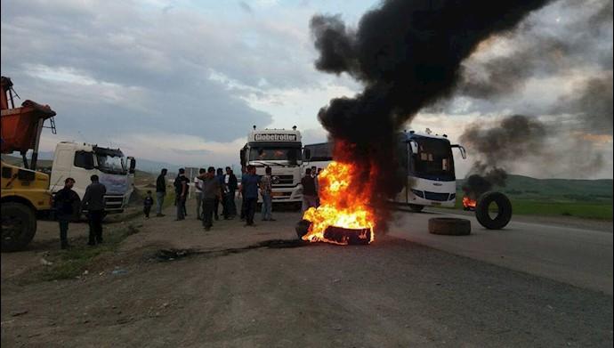 بروجرد - اعتصاب رانندگان کامیون - چهارم خرداد ۹۷