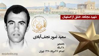 مجاهد شهید سعید غیور نجفآبادی