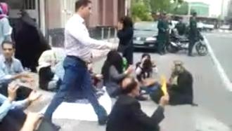 تجمع  اعتراضی  غارت شدگان  در تهران