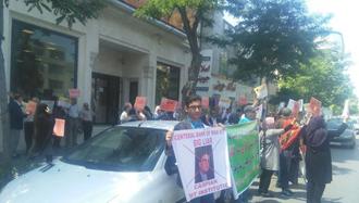 مشهد.تجمع اعتراضی غارتشدگان کاسپین ۳۰ اردیبهشت ۹۷