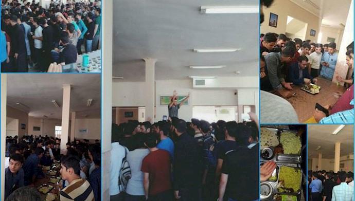 تجمع و اعتصاب دانشجویان دانشگاه یزد