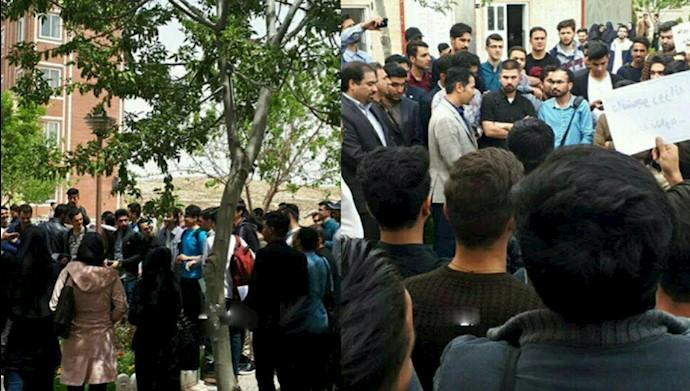 قوچان.تجمع اعتراضی دانشجویان دانشگاه صنعتی