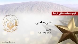 مجاهد شهید علی حاجی