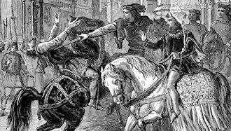 وات تایلر، رهبر کشاورزان انگلستان، اعدام شد
