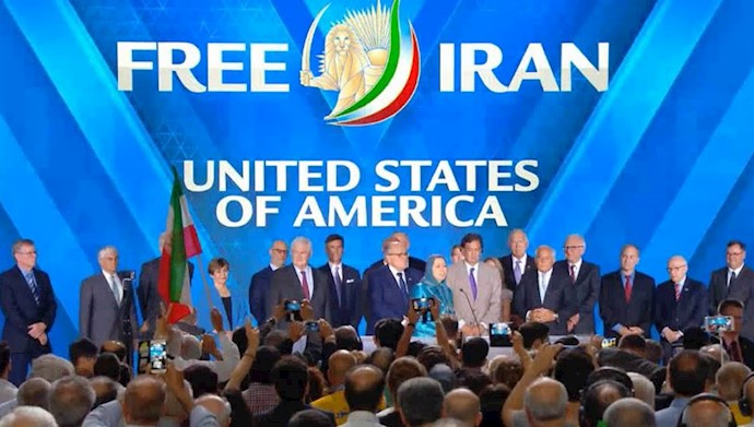 سخنرانی هیأتی از آمریکا در گردهمایی بزرگ مقاومت ایران
