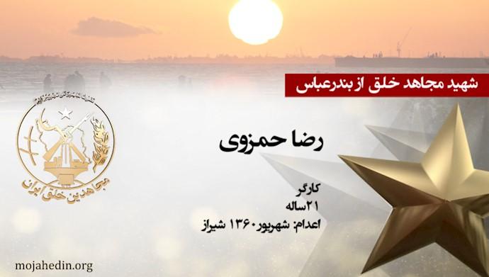 مجاهد شهید رضا حمزوی