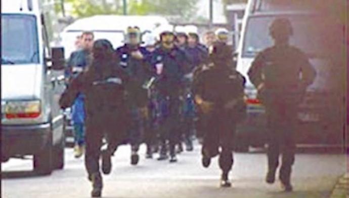 حمله پلیس فرانسه به مقر شورای ملی مقاومت