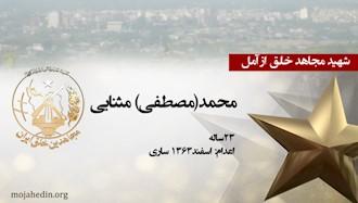 مجاهد شهید محمد(مصطفی) مثنایی