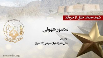 مجاهد شهید منصور شهولی