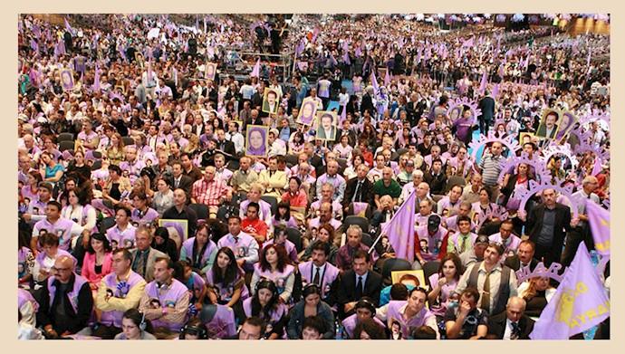 مریم رجوی در همایش بزرگ ایرانیان در ویلپنت ـ سوم تیر ۱۳۹۱