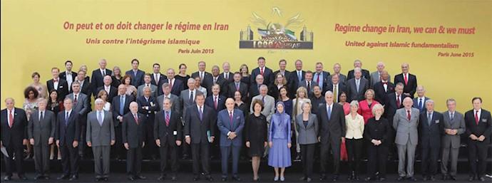 شرکت بیش از ۶۰۰شخصیت و قانونگذار از ۷۰کشور جهان در گردهمایی بزرگ مقاومت در سال ۱۳۹۴