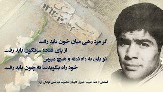 مجاهد شهید حبیب خبیری کاپیتان تیم ملی فوتبال ایران