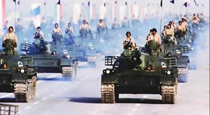 تبدیل ارتش آزادیبخش از ارتش پیاده به زرهی توسط مریم رجوی