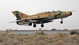 سقوط جنگنده  رژیم ایران در استان اصفهان