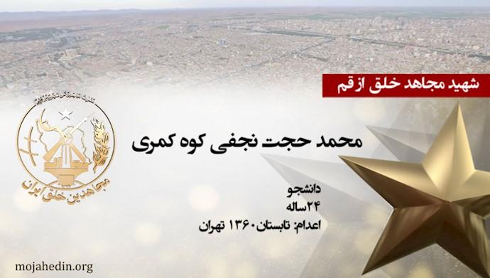 مجاهد شهید محمد حجت نجفی کوه کمری