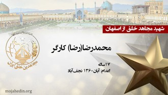 مجاهد شهید محمدرضا(رضا) کارگر