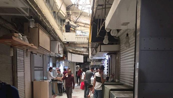 اعتصاب بازار تهران - بازار جامع دوم - ۶تیر۹۷