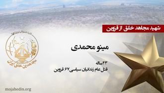مجاهد شهید مینو محمدی