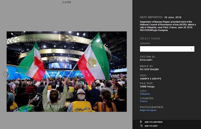 انعکاس خبرگزاری رویتر از گردهمایی بزرگ ایرانیان در ویلپنت پاریس