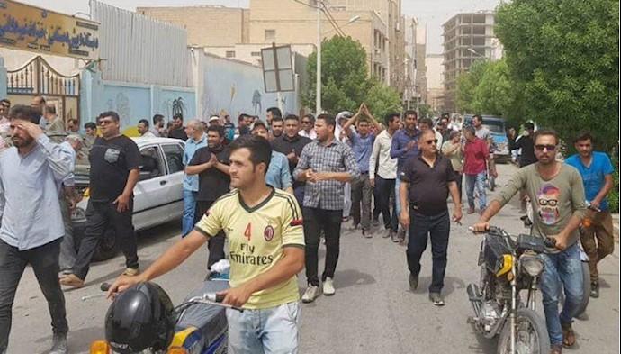 آبادان-  تظاهرات مردم در اعتراض به وضعیت آب - ۹تیر۹۷