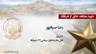 مجاهد شهید رضا صیادپور