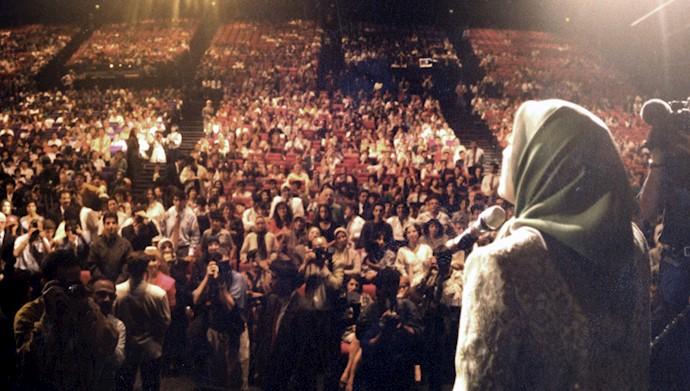 مریم رجوی - سخنرانی در پاله دوکنگره - پاریس تیرماه ۱۳۷۳