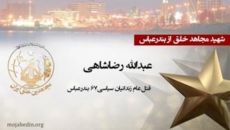 مجاهد شهید عبدالله رضاشاهی