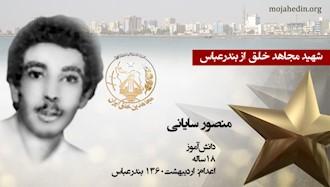 مجاهد شهید منصور سایانی